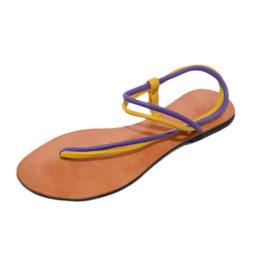 Mi Sling Double Strap, Yellow & Purple, 8.5